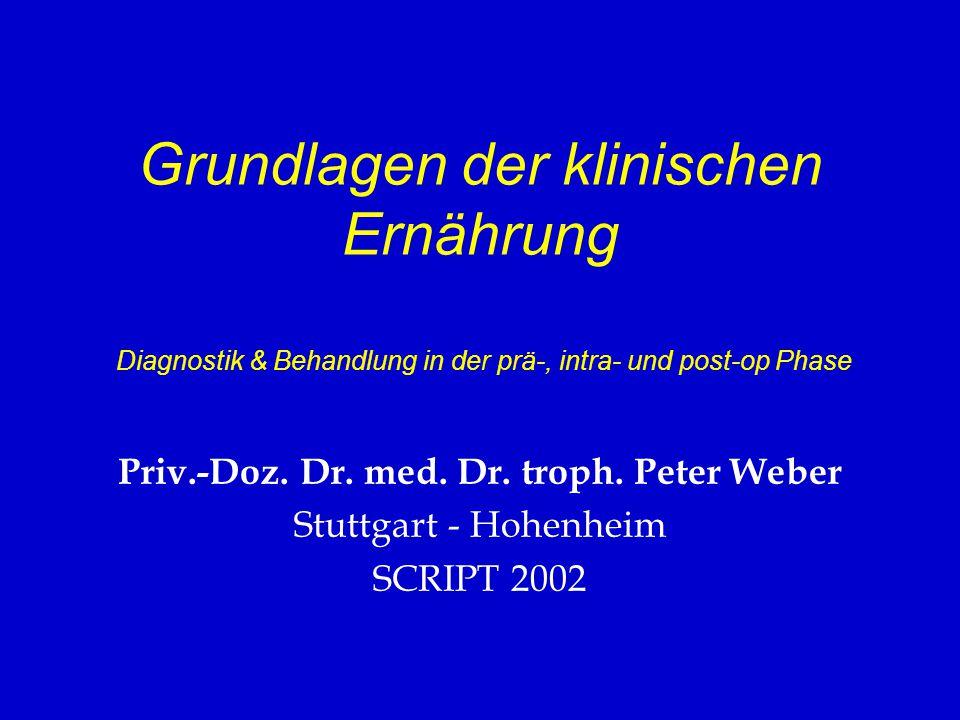 Priv.-Doz. Dr. med. Dr. troph. Peter Weber