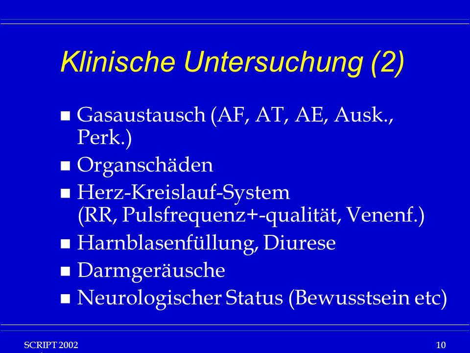 Klinische Untersuchung (2)