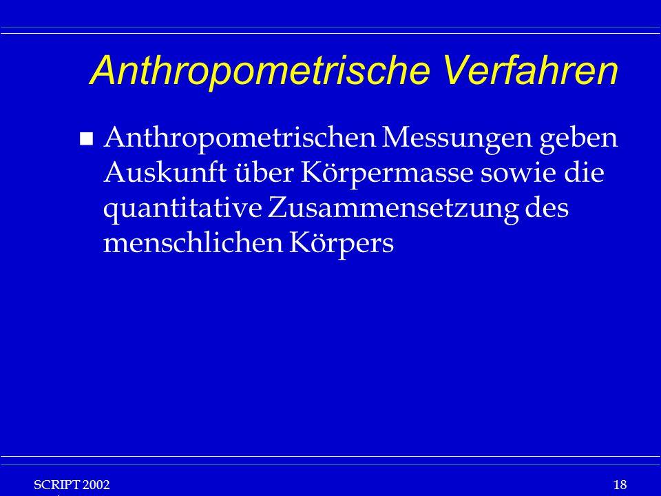 Anthropometrische Verfahren