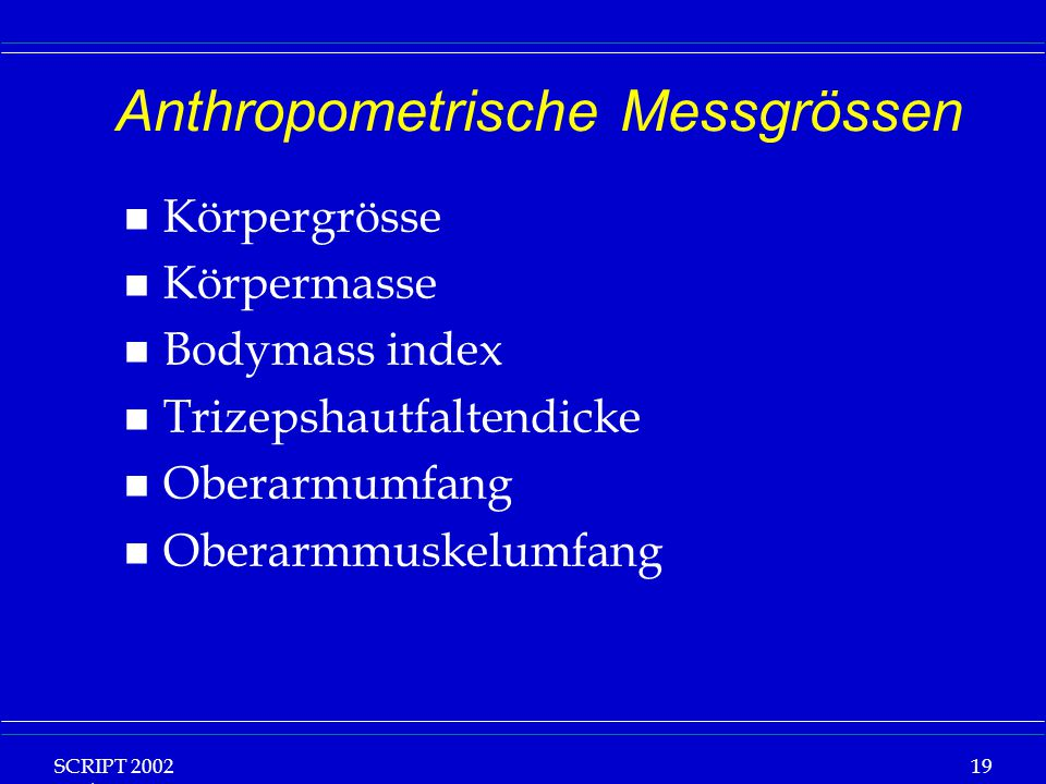 Anthropometrische Messgrössen