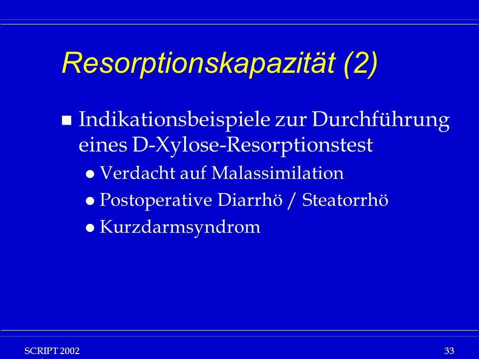 Resorptionskapazität (2)