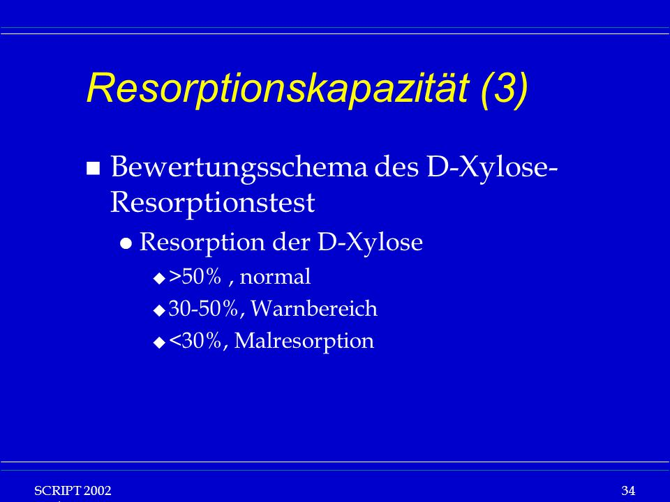 Resorptionskapazität (3)