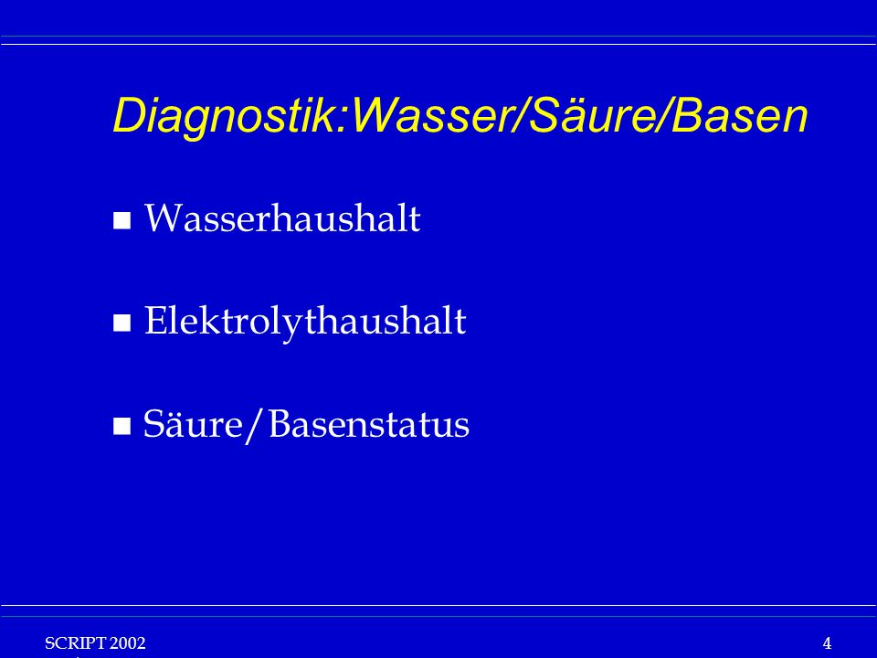 Diagnostik:Wasser/Säure/Basen