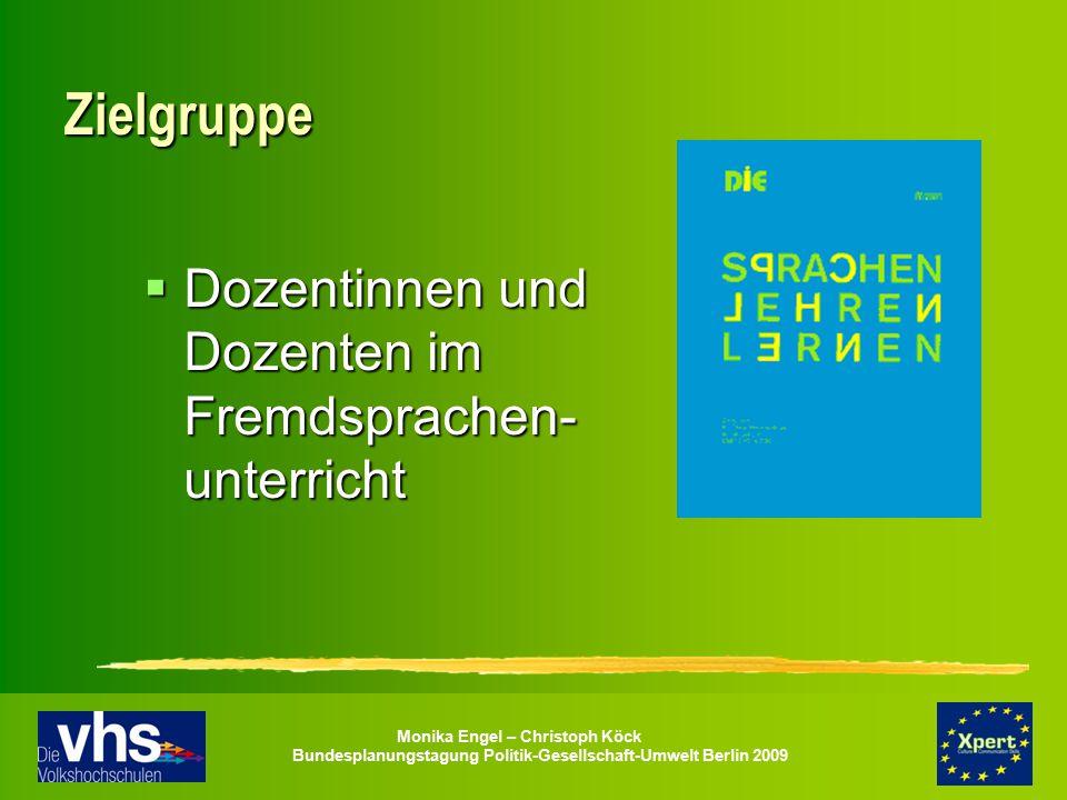 Zielgruppe Dozentinnen und Dozenten im Fremdsprachen-unterricht