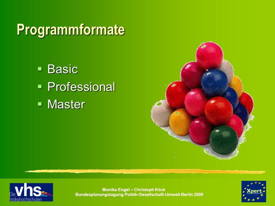 Programmformate Basic Professional Master