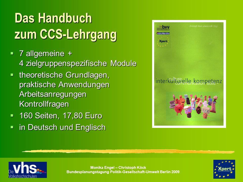 Das Handbuch zum CCS-Lehrgang