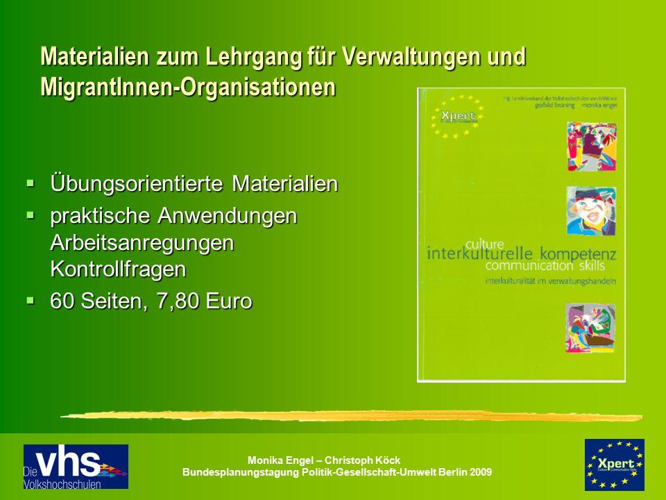 Materialien zum Lehrgang für Verwaltungen und MigrantInnen-Organisationen