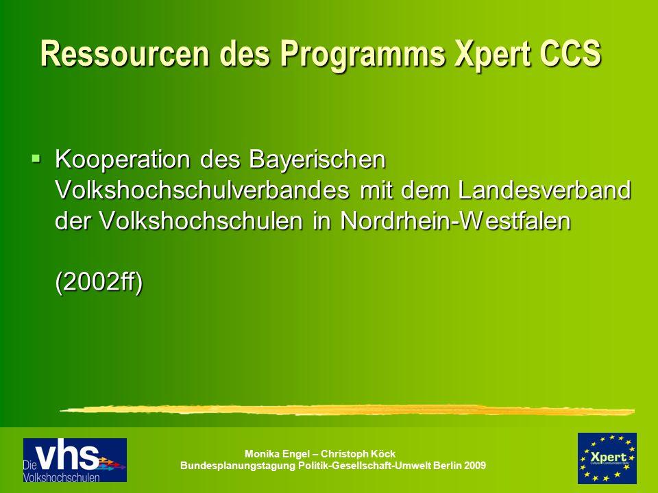 Ressourcen des Programms Xpert CCS
