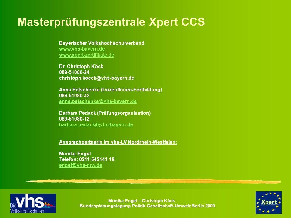 Masterprüfungszentrale Xpert CCS
