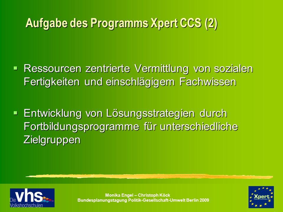 Aufgabe des Programms Xpert CCS (2)
