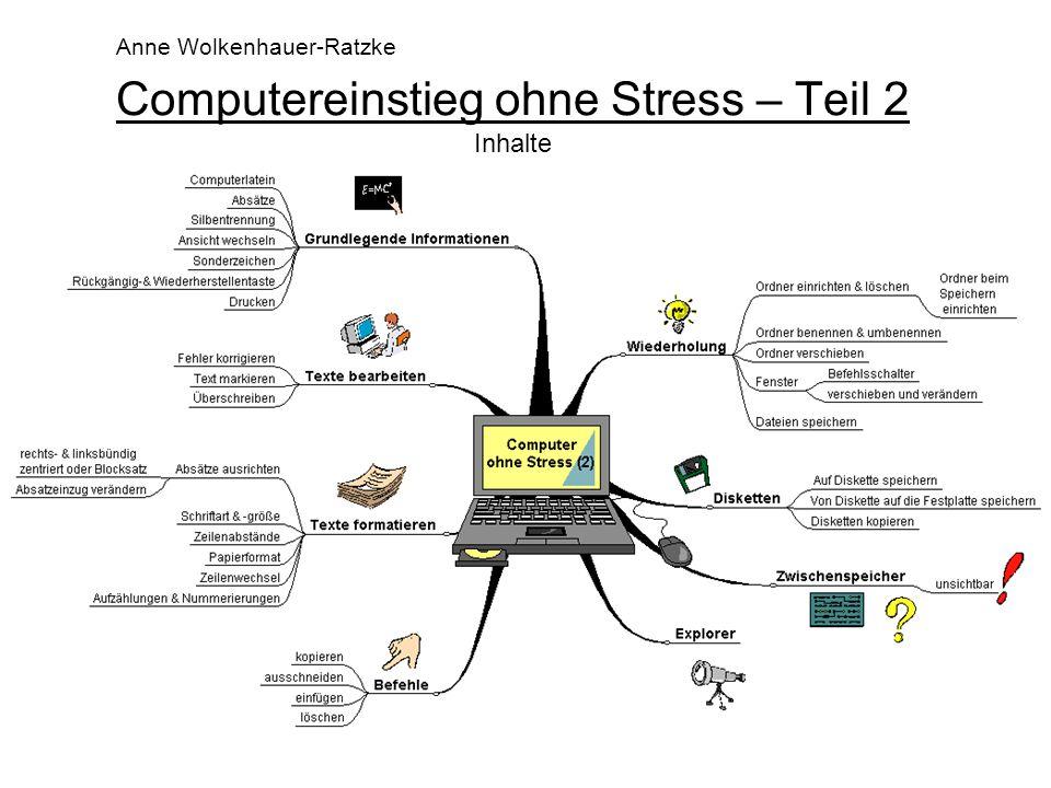 Computereinstieg ohne Stress – Teil 2 Inhalte