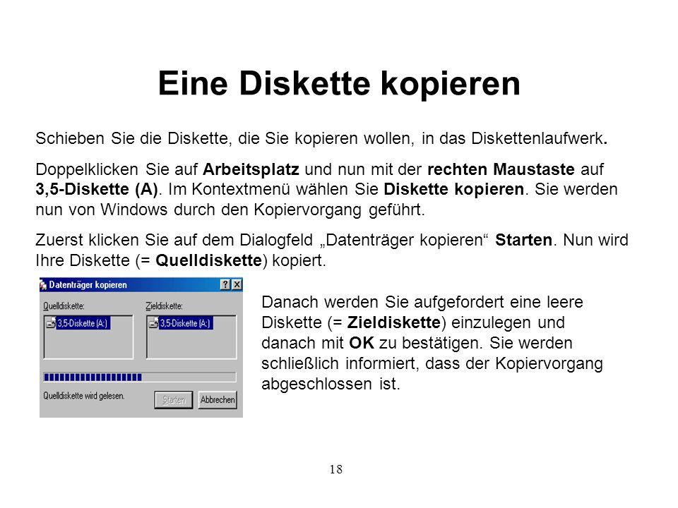 Eine Diskette kopieren