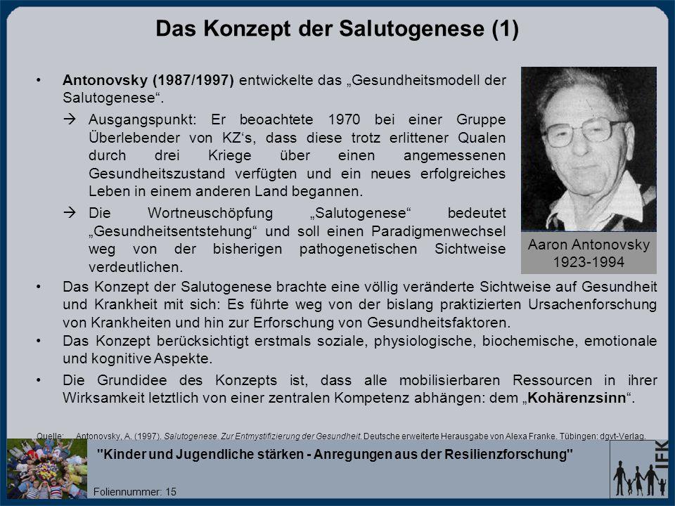 Das Konzept der Salutogenese (1)