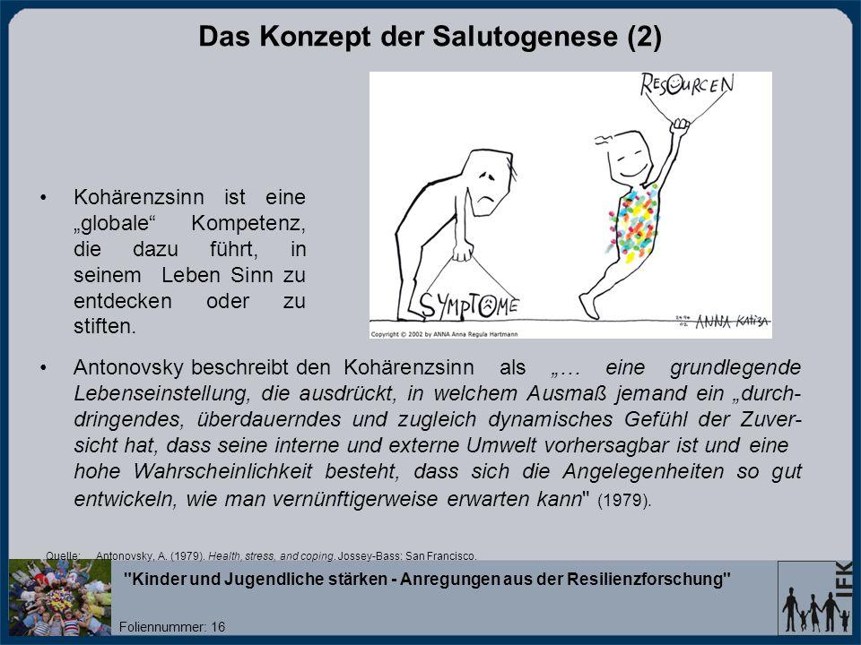 Das Konzept der Salutogenese (2)