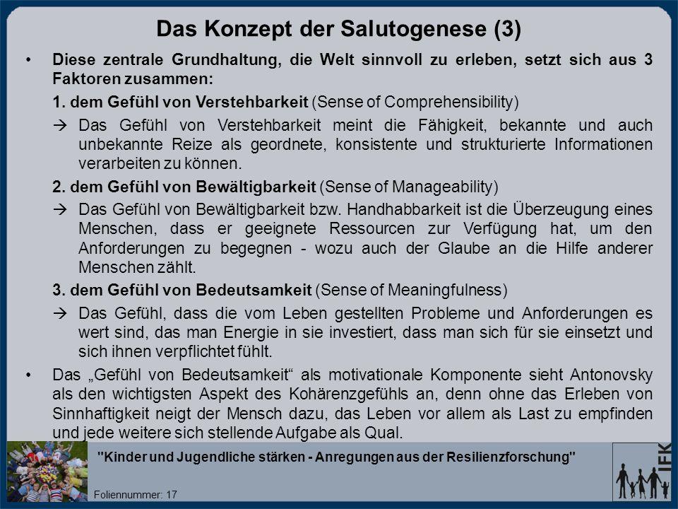 Das Konzept der Salutogenese (3)