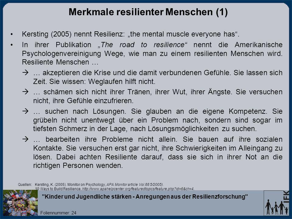 Merkmale resilienter Menschen (1)
