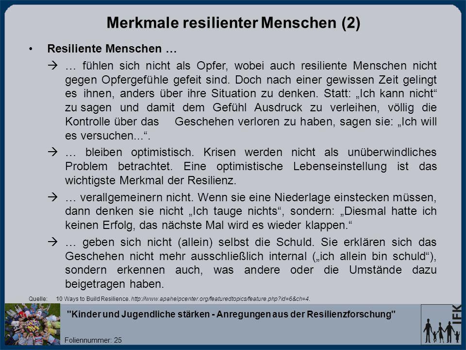 Merkmale resilienter Menschen (2)
