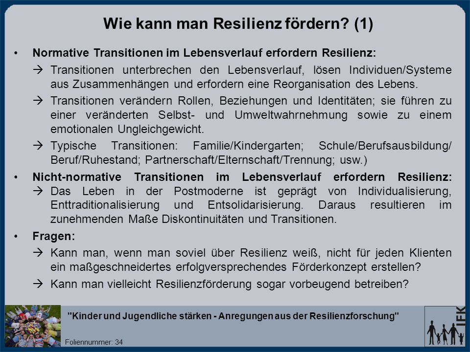 Wie kann man Resilienz fördern (1)