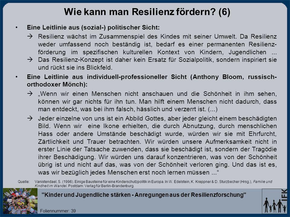 Wie kann man Resilienz fördern (6)