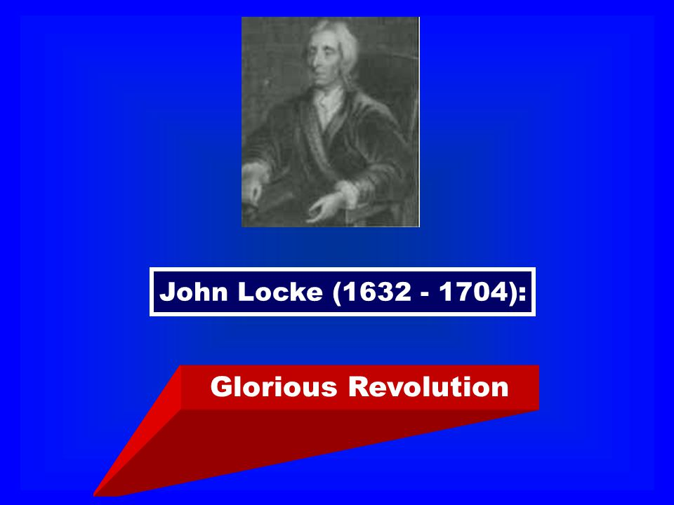 John Locke (1632 - 1704): Glorious Revolution