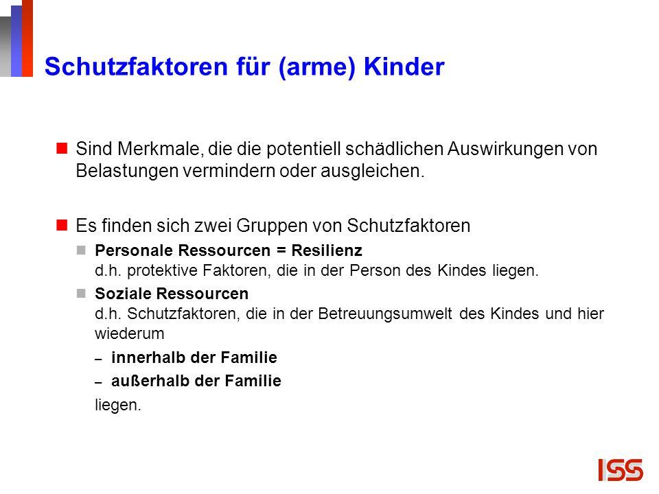 Schutzfaktoren für (arme) Kinder