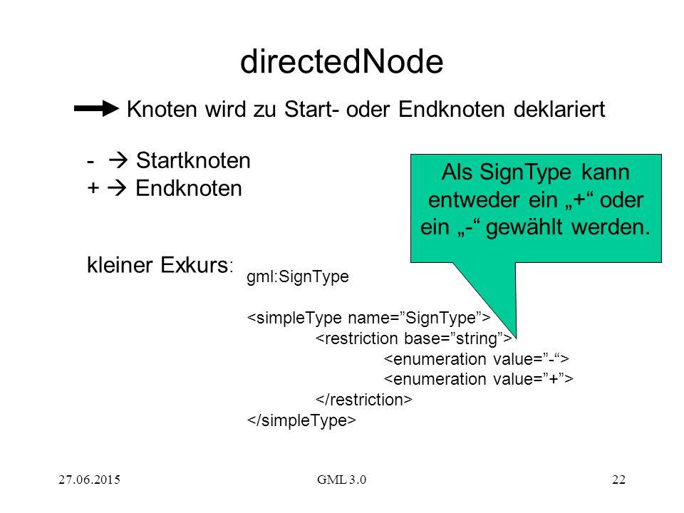 """Als SignType kann entweder ein """"+ oder ein """"- gewählt werden."""