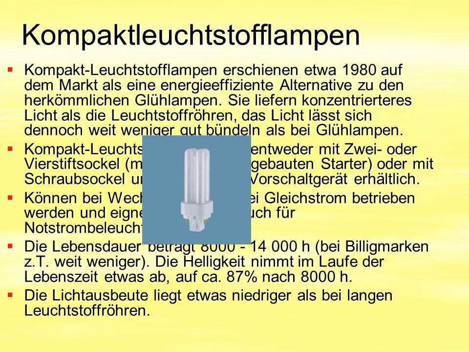 Kompaktleuchtstofflampen