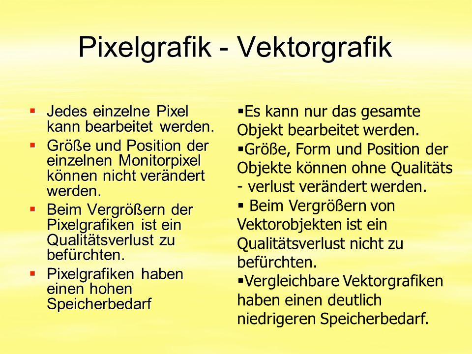 Pixelgrafik - Vektorgrafik