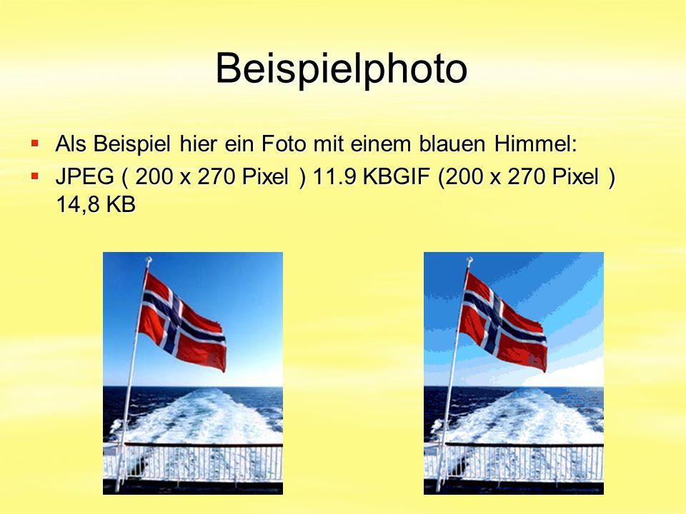 Beispielphoto Als Beispiel hier ein Foto mit einem blauen Himmel: