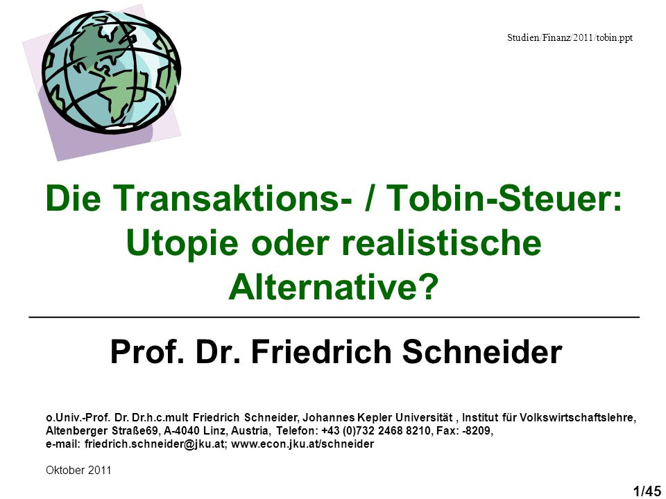 Prof. Dr. Friedrich Schneider