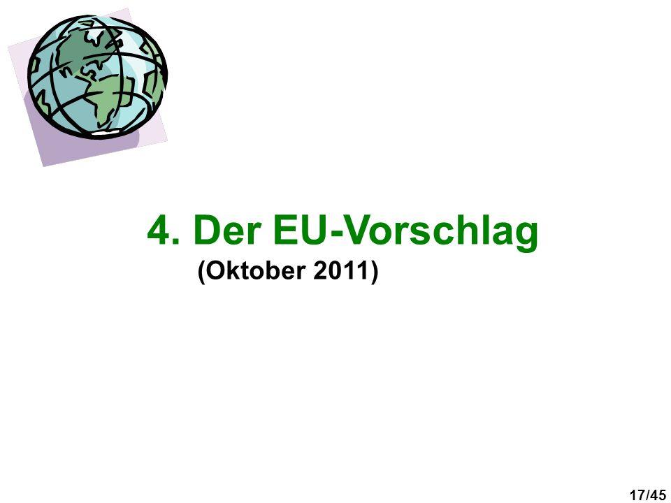 4. Der EU-Vorschlag (Oktober 2011)