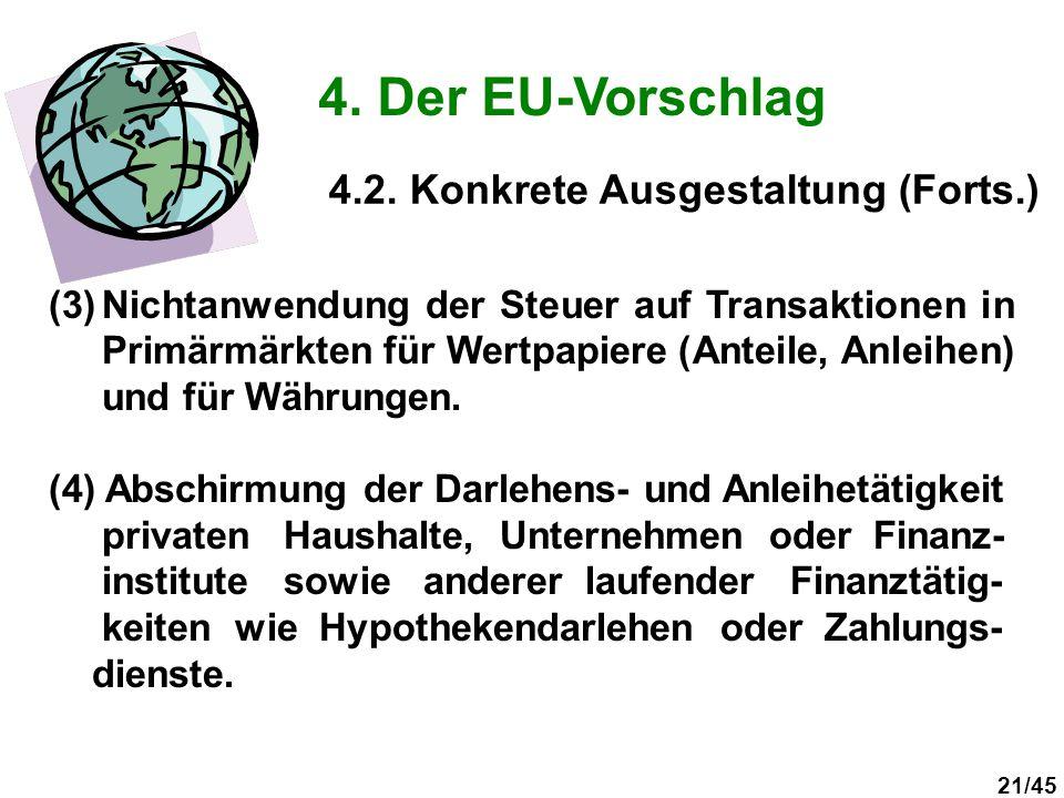 4. Der EU-Vorschlag 4.2. Konkrete Ausgestaltung (Forts.)