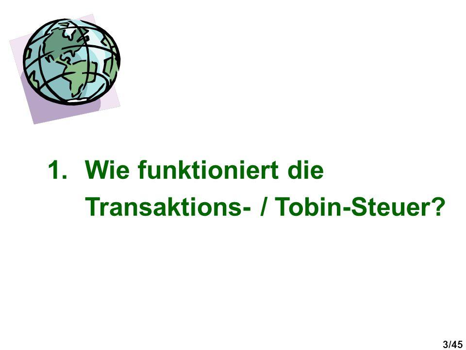 Wie funktioniert die Transaktions- / Tobin-Steuer