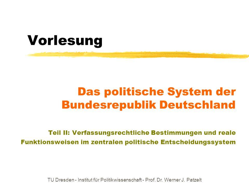 Vorlesung Das politische System der Bundesrepublik Deutschland
