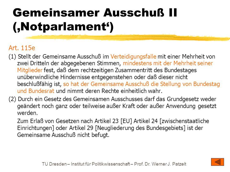 Gemeinsamer Ausschuß II ('Notparlament')