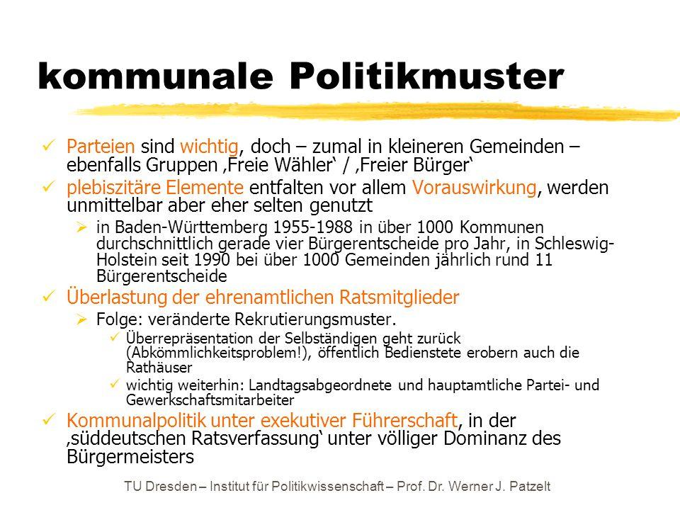 kommunale Politikmuster