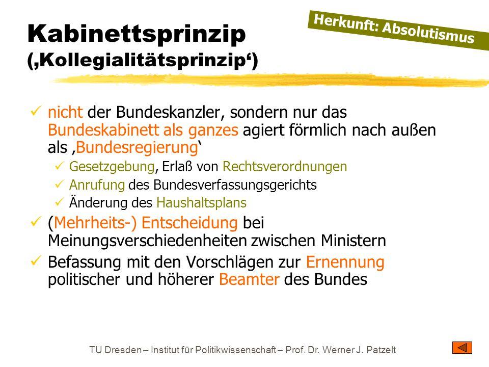 Kabinettsprinzip ('Kollegialitätsprinzip')