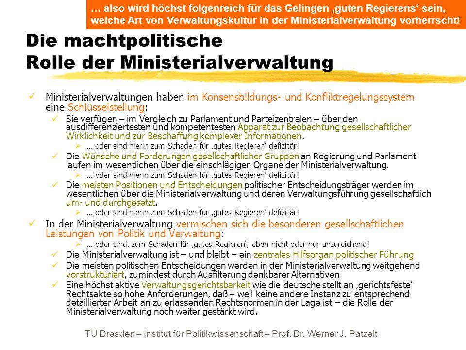 Die machtpolitische Rolle der Ministerialverwaltung