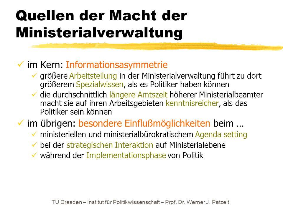 Quellen der Macht der Ministerialverwaltung