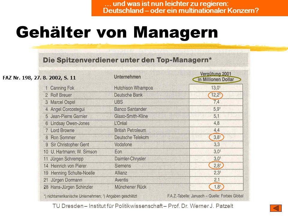 ... und was ist nun leichter zu regieren: Deutschland – oder ein multinationaler Konzern
