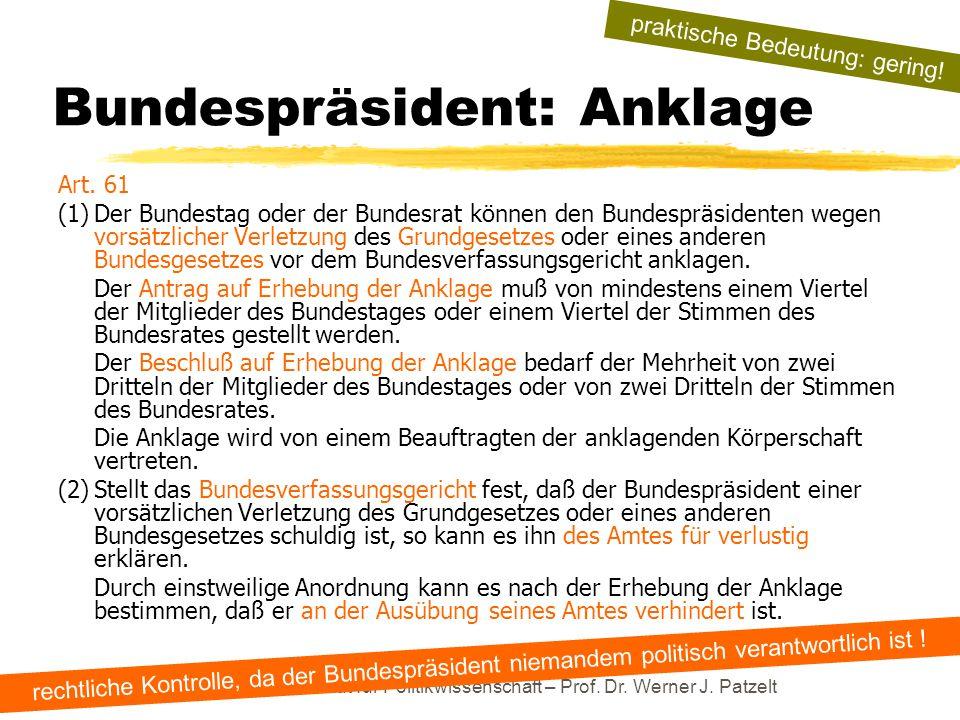 Bundespräsident: Anklage