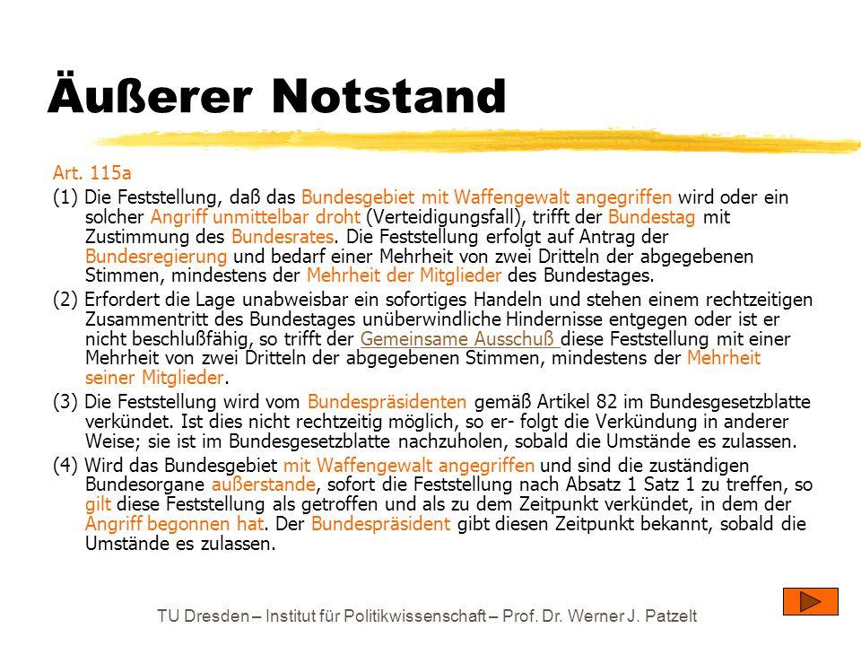 Äußerer Notstand Art. 115a.
