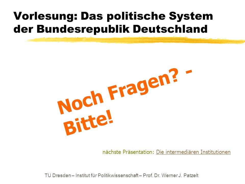 Vorlesung: Das politische System der Bundesrepublik Deutschland