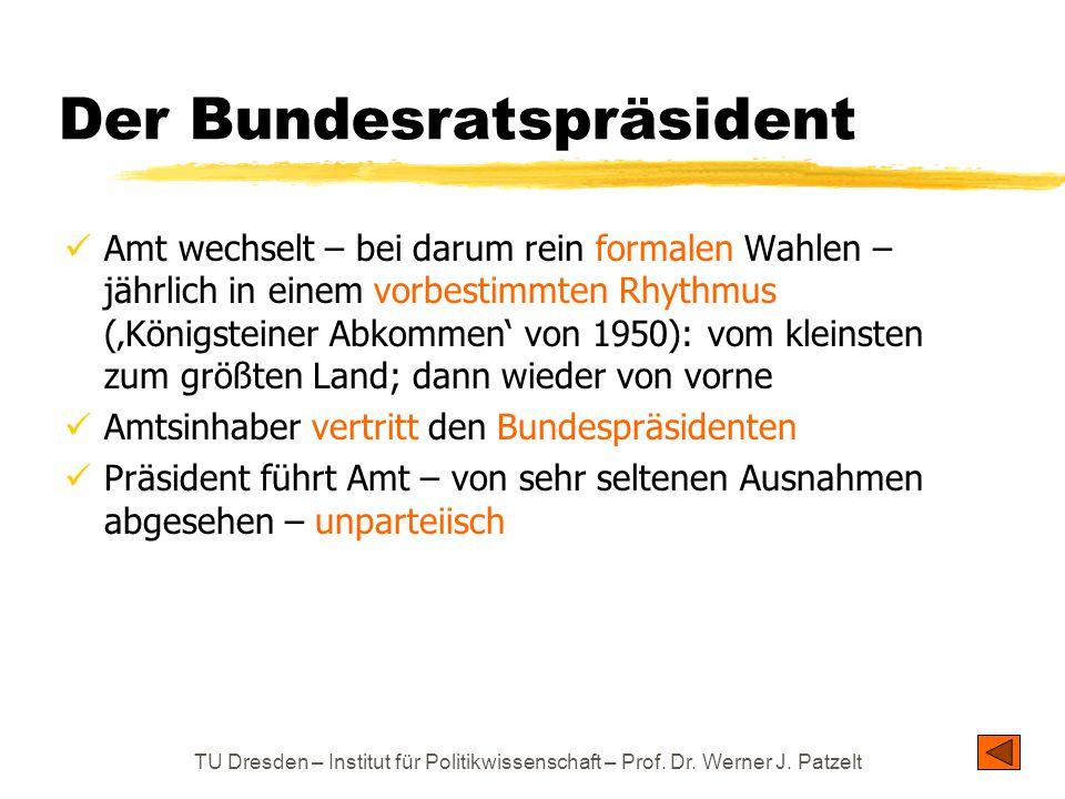 Der Bundesratspräsident