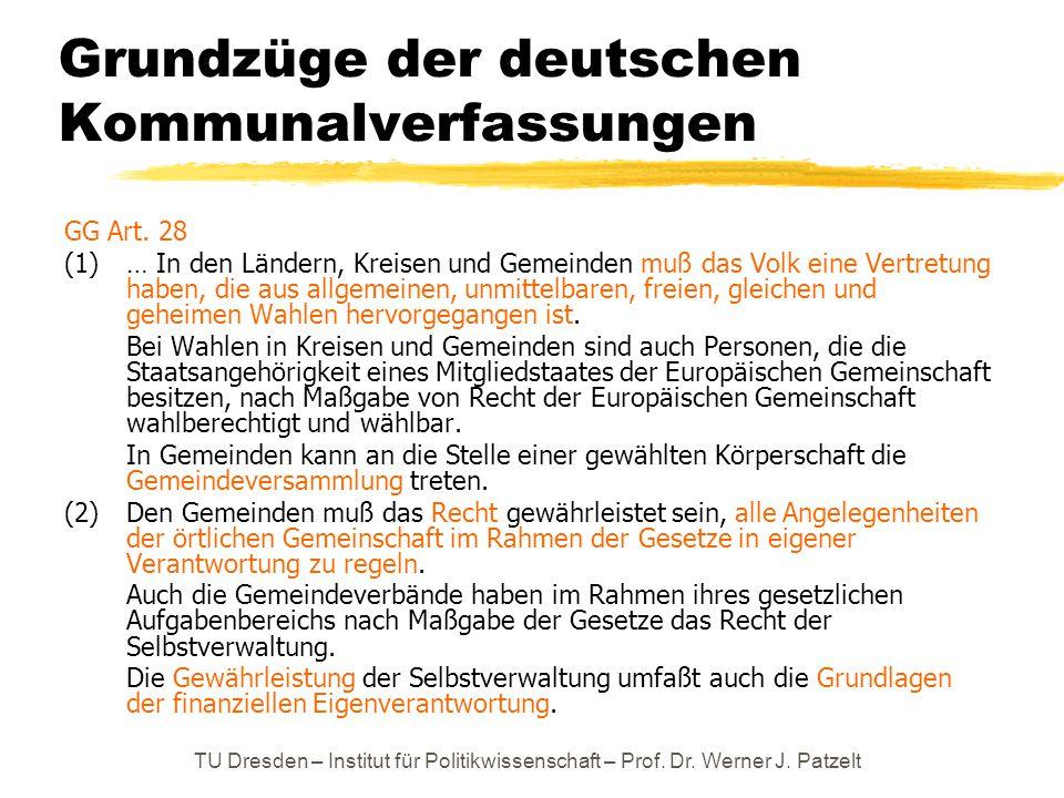 Grundzüge der deutschen Kommunalverfassungen