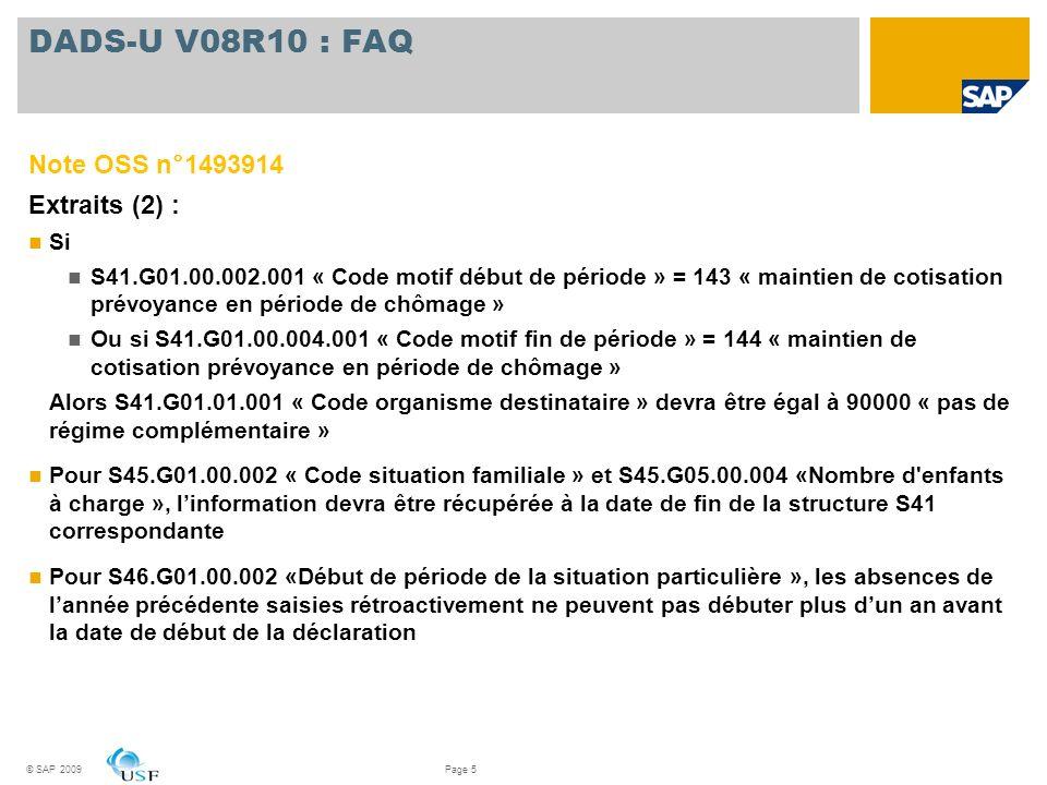 DADS-U V08R10 : FAQ Note OSS n°1493914 Extraits (2) : Si