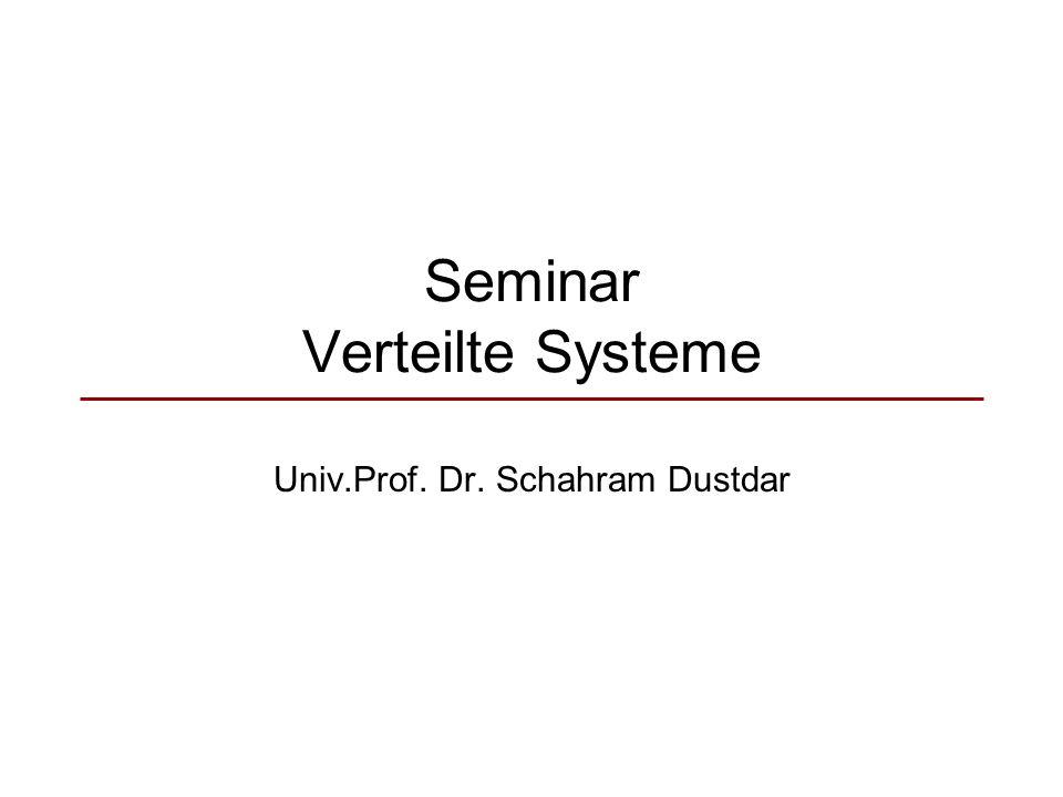 Seminar Verteilte Systeme