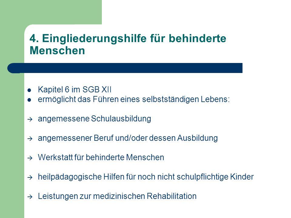 4. Eingliederungshilfe für behinderte Menschen