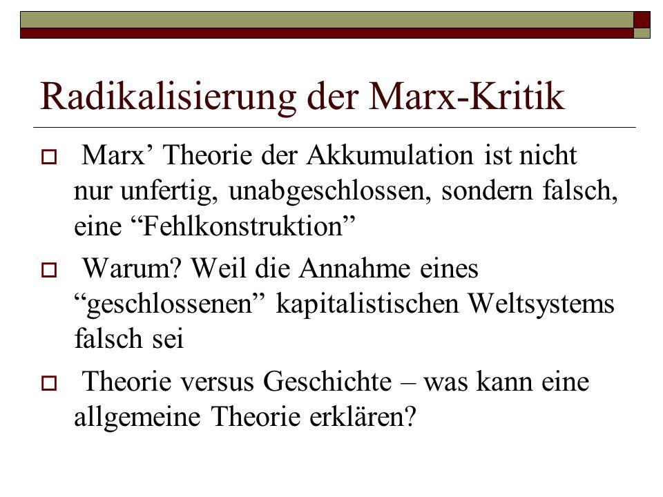 Radikalisierung der Marx-Kritik