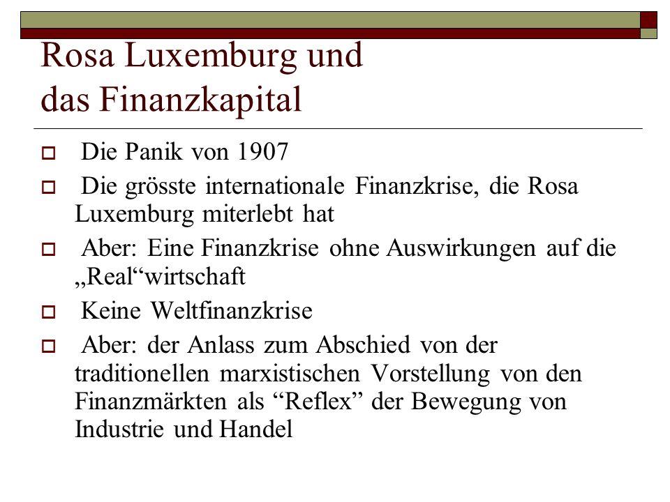 Rosa Luxemburg und das Finanzkapital